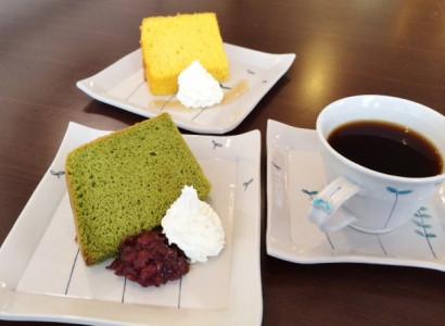 瑞庵③シフォンケーキとコーヒー